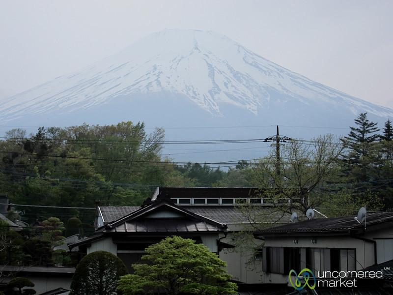 View of Mount Fuji from Hotel - Yamanaka-ko, Japan