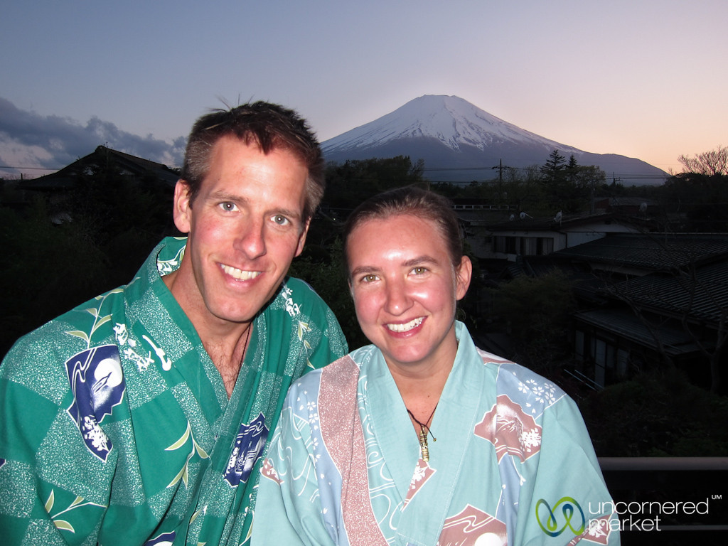 Cheesy Kimono Photo - Mount Fuji, Japan