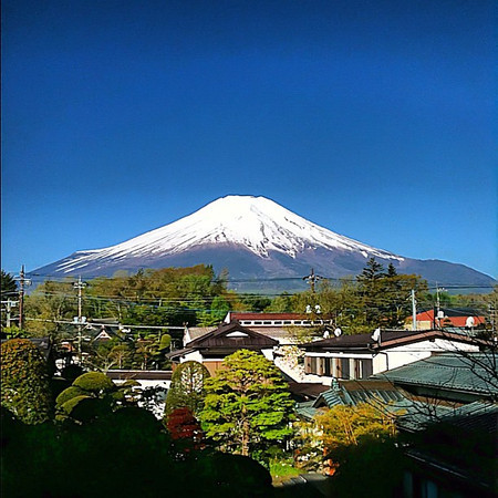 Mt. Fuji morning perfection, a view from our deck after the clouds cleared - #Japan #dna2japan #gadv