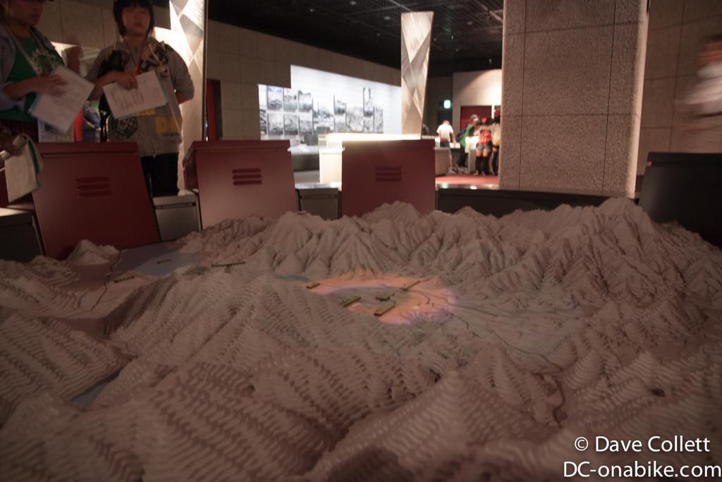 Model inside the museum