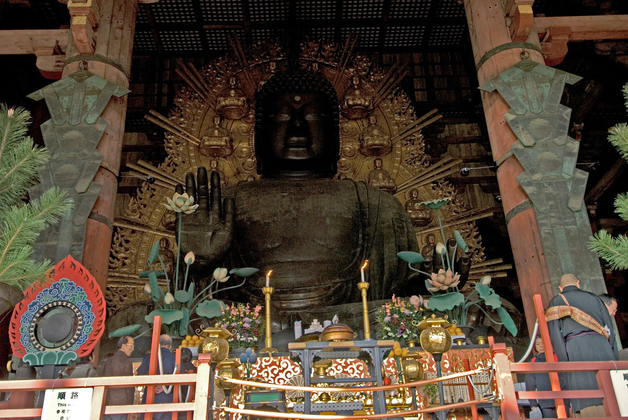 Enhanced photo of Buddha at Todaiji Temple in Nara, Japan