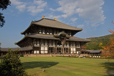 Profile of the Todaiji Temple in Nara, Japan