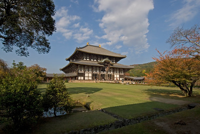 Todaiji Temple in the midst of beautiful scenery in Nara, Japan