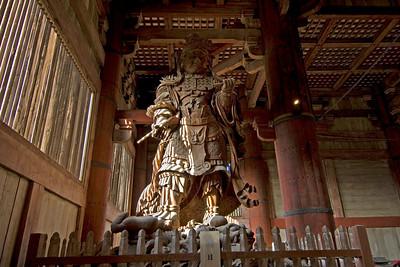 Wooden Statue at Todaiji Temple in Nara, Japan
