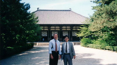 1997- Main Hall at Yakushiji Temple nr Nara with Toshi