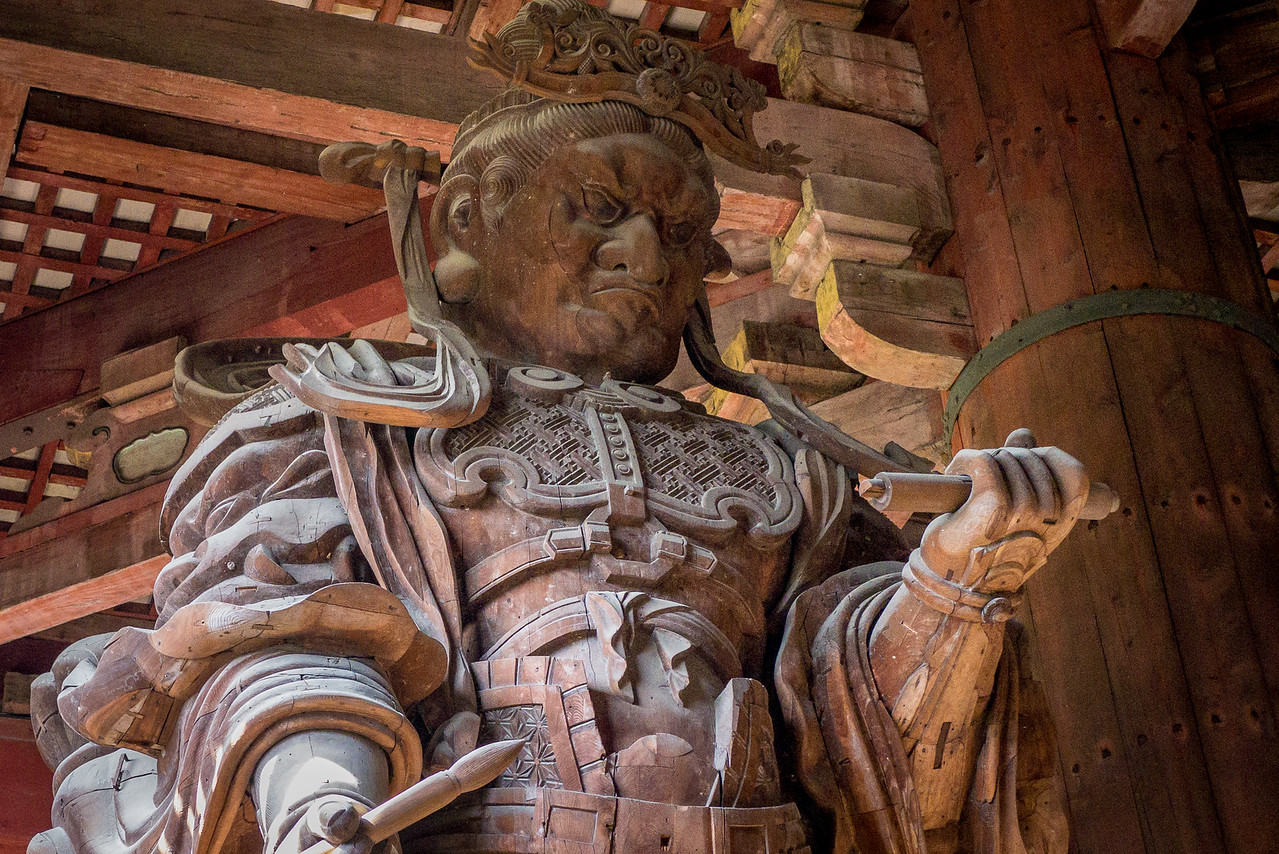 Komokuten, giant guardian of the Great Buddha in Todai-ji temple