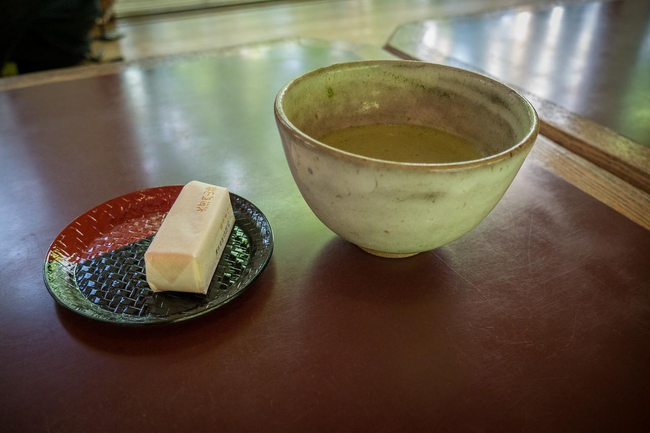 Okochi-Sanso Villa tea and sweet treat