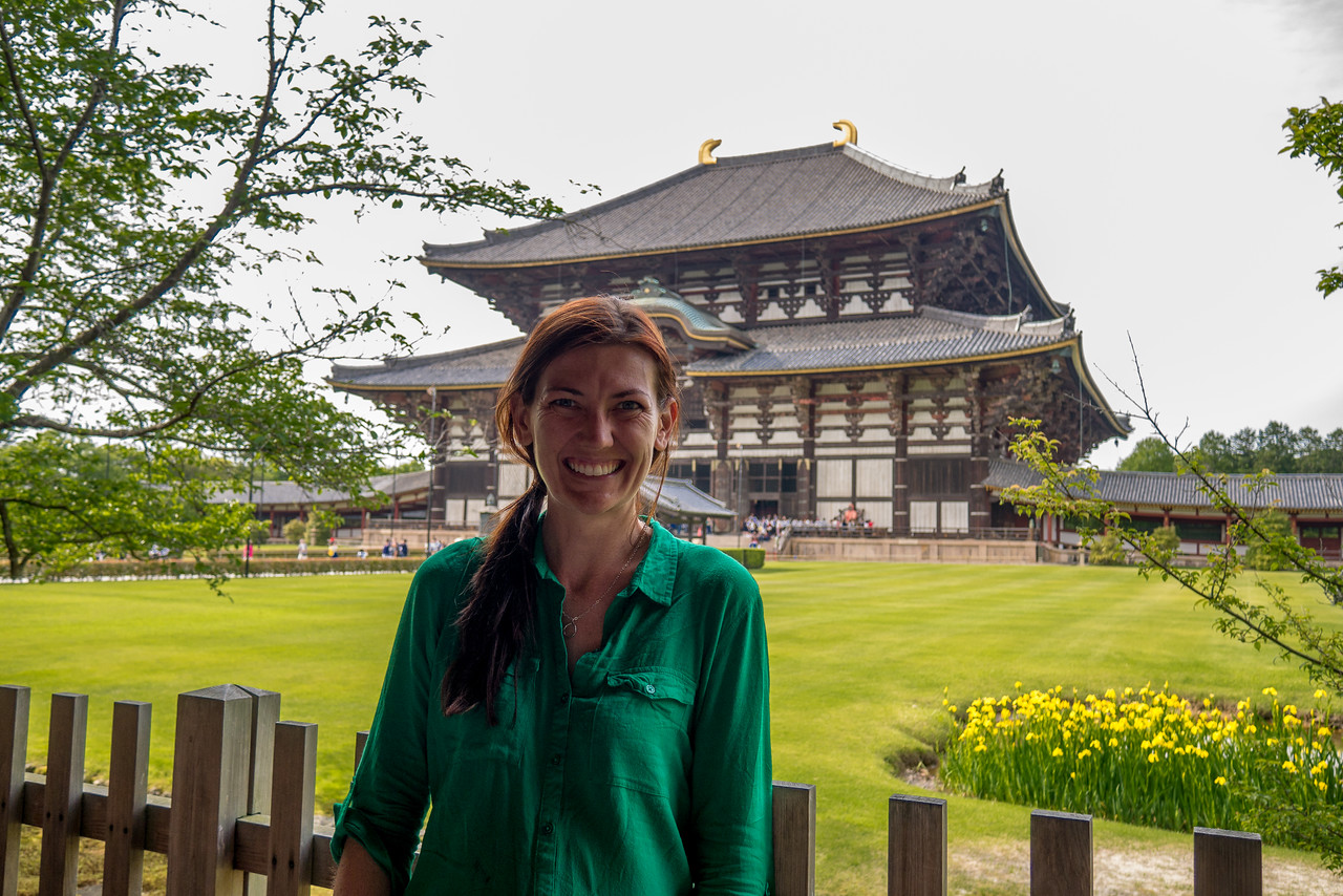 Cheesing it up in front of the gorgeous temple.