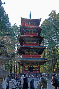Five Story pagoda at Futarasan-Jinja in Nikko, Japan