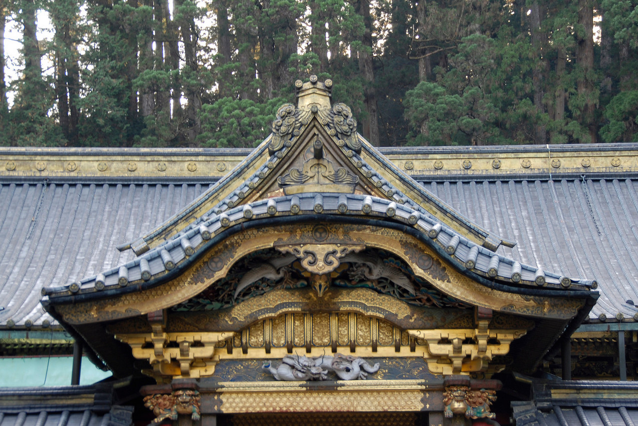 Beautiful architectural rooftop at Nikko, Japan