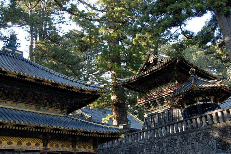 Elaborate rooftop details at Nikkō Tōshō-gū in Japan