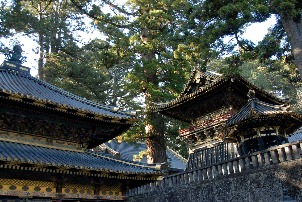 Elaborate rooftop details at Nikkō Tōshō-gū in Japan