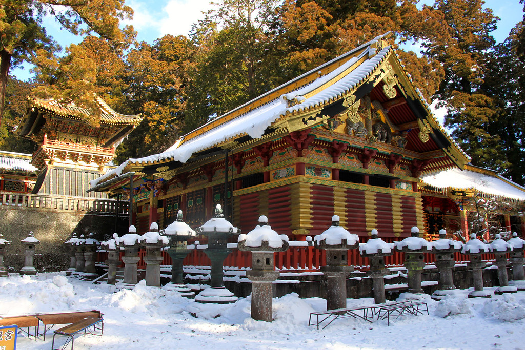 Snow Covered Toshogu Temple – Nikko, Japan – Photo