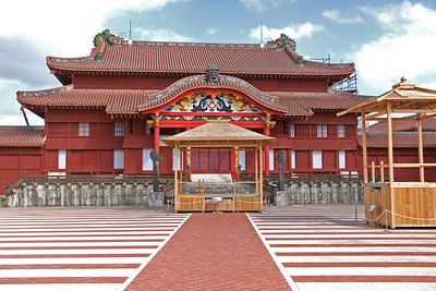 Shurijo Castle Main Building IN Okinawa, Japan