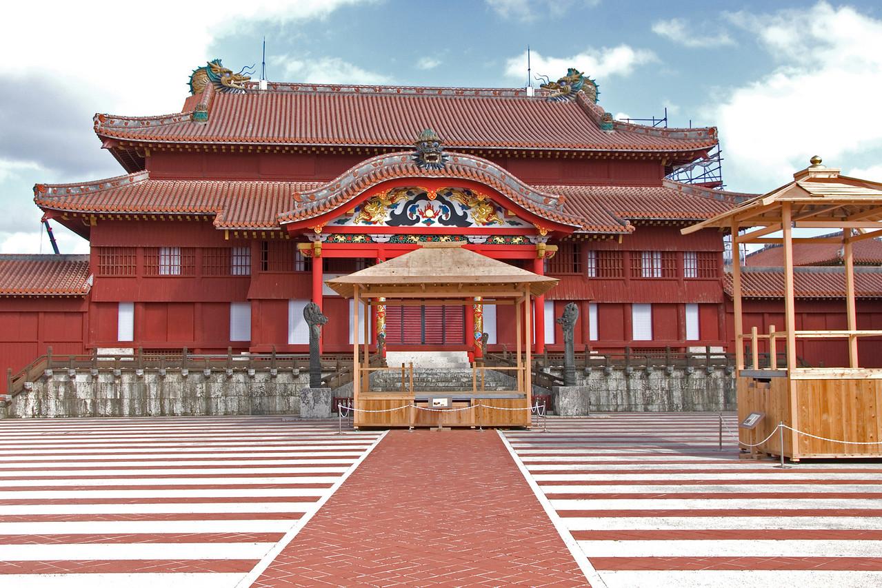Shurijo Castle Main Building IN Okinawa, Japan