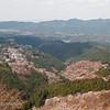 """<a target=""""NEWWIN"""" href=""""http://en.wikipedia.org/wiki/Mount_Yoshino"""">Mount Yoshino</a> during sakura season, Yoshino, Japan"""
