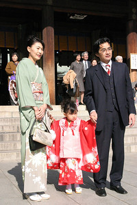 Shichi-Go-San season, Meiji Shrine, Harajuku Sunday