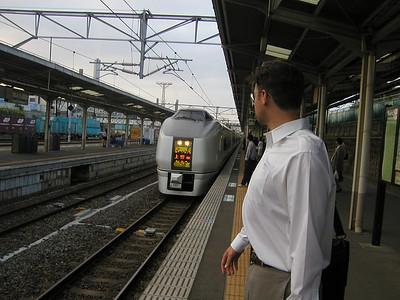 Hitachi City, approx 150km north of Tokyo, 2003  Here is the departing melody:  http://hisaai-hp.hp.infoseek.co.jp/JREast/193.mp3 Shinkansen