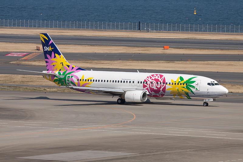 """JA737F Boeing 737-43Q """"Skynet Asia Airways"""" c/n 28492 Tokyo-Haneda/RJTT/HND 26-02-11"""