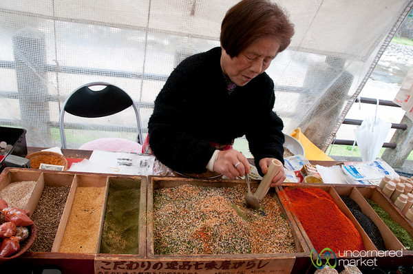Mixing Spices Together - Takayama, Japan