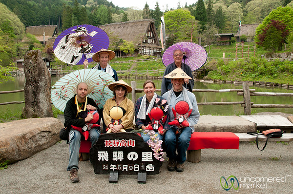 Cheesy Tourist Photo at Hida Folk Village - Takayama, Japan