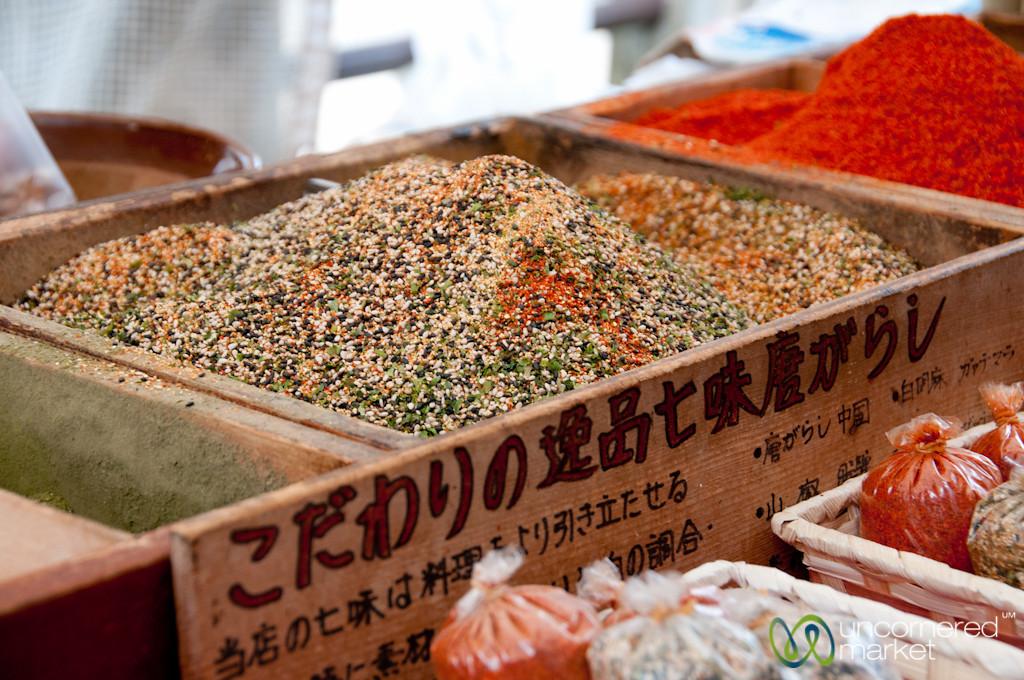 Spices at Takayama Morning Market - Japan