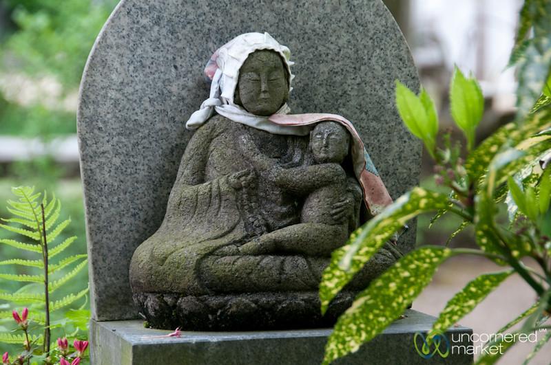 Jizo Statue at Hida Kokubunji Temple - Takayama, Japan