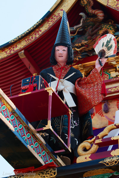 """Mechanical doll on one of the floats at the <a target=""""NEWWIN"""" href=""""http://en.wikipedia.org/wiki/Takayama_Festival"""">Takayama Festival</a>, <a target=""""NEWWIN"""" href=""""http://en.wikipedia.org/wiki/Takayama,_Gifu"""">Takayama</a>, Japan"""