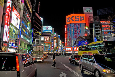 Bright lights at Shinjuku during night - Shinjuku, Tokyo, Japan
