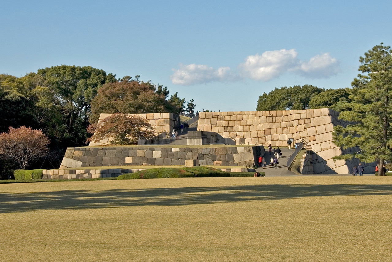 Ruins of the Old Imperial Castle in Tokyo, Japan