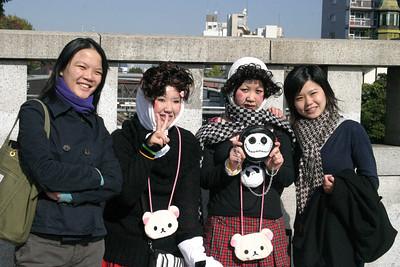Harajuku girls by Harajuku Station, Shibuya