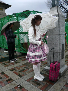 "Harajuku (原宿 ""meadow lodging"") is name for the area around Harajuku Station on the Yamanote Line in the Shibuya ward of Tokyo. Every Sunday, young people dressed in a variety of styles including gothic lolita, visual kei, and decora, as well as cosplayers spend the day in Harajuku socializing. They gather on Jingu Bridge, which is a pedestrian bridge that connects Harajuku to the neighboring Meiji Shrine area. Harajuku is also a fashion capital renowned for unique street fashion shopping.  Don't miss a visit to this area!"