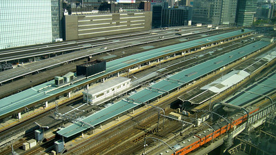 Tokyo Station, only a tiny fraction as most is underground. Tokyo Springtime.2007