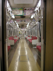 At 5am you may get to see a very rare site in Tokyo, an empty train. The Tsukiji fish market is located near the Tsukijishijō Station on the Toei Ōedo Line