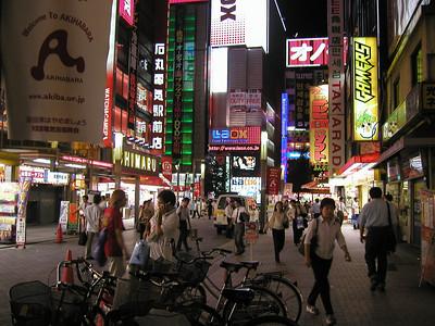Akihabara Electric Town nightlife Aug 2002