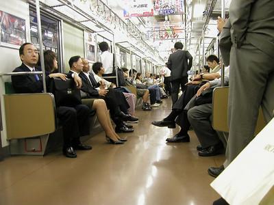 Tokyo Akihabara Electric Town - quiet train nightlife Aug 2002