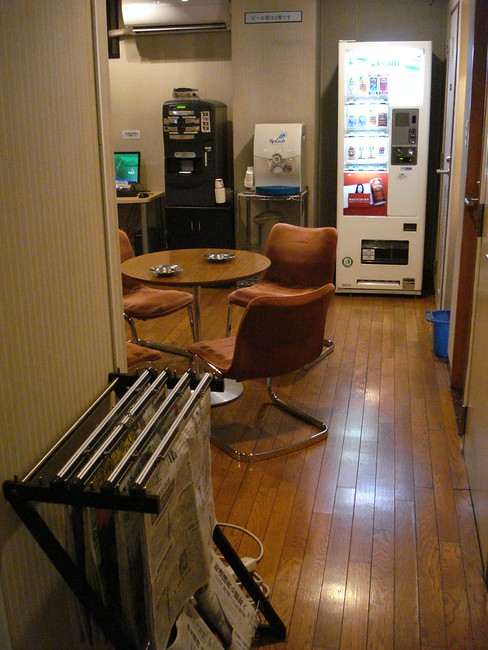 Capsule Inn foyer