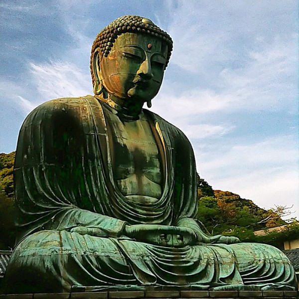 Kotokuin Daibutsu, Great Buddha in late afternoon - Kamakura, #Japan #dna2japan