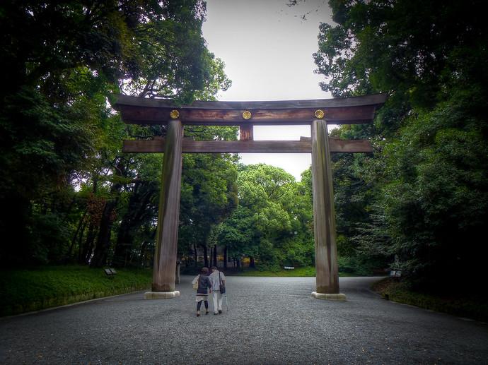 tokyo japan grand shrine