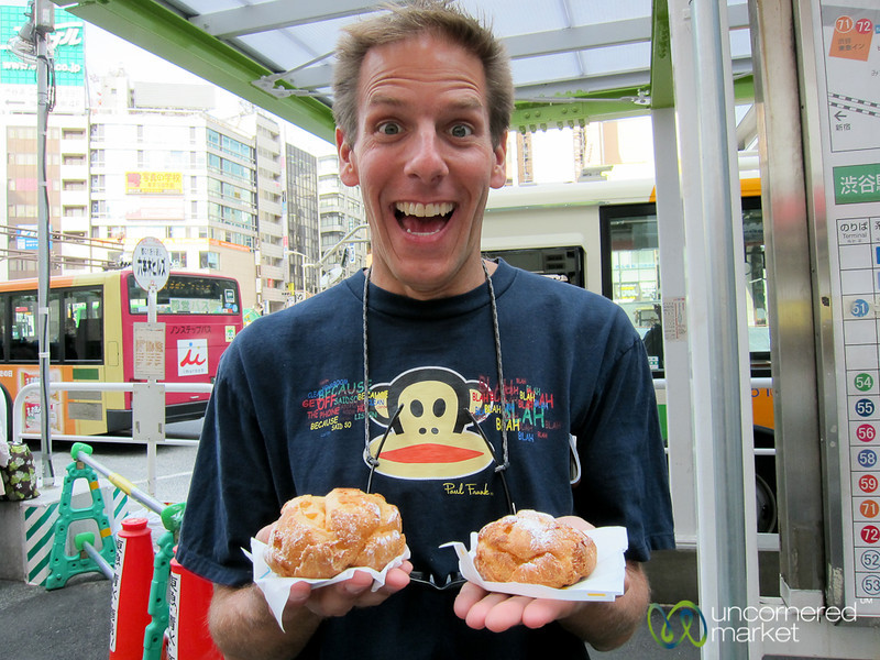 Dan is Excited for Beard Papa - Tokyo, Japan