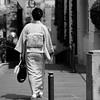 Woman dressed in kimono, Tokyo, Japan