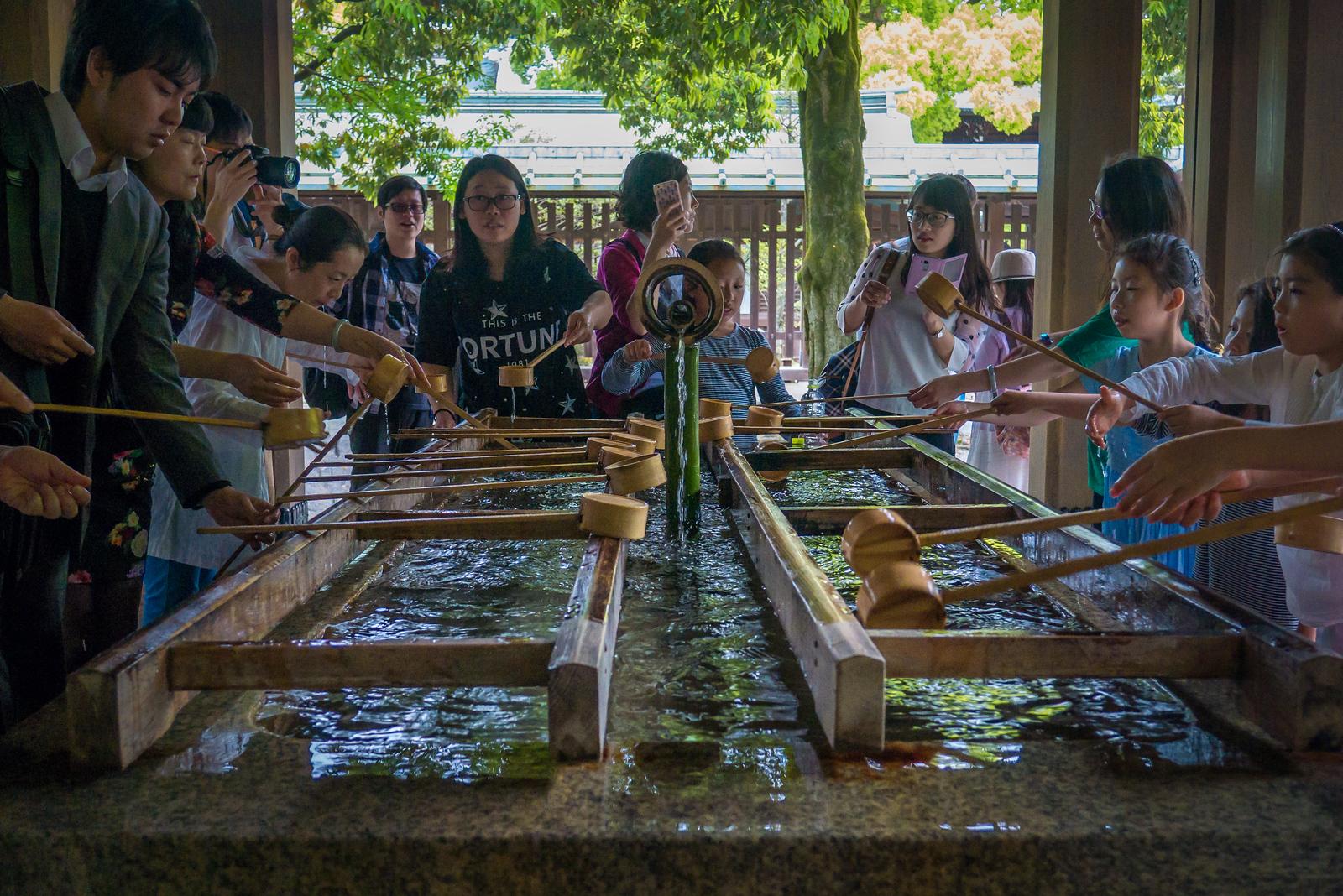 Meiji Shrine religious hand washing