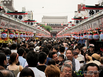 Crowds of People at Sanja Festival - Tokyo, Japan