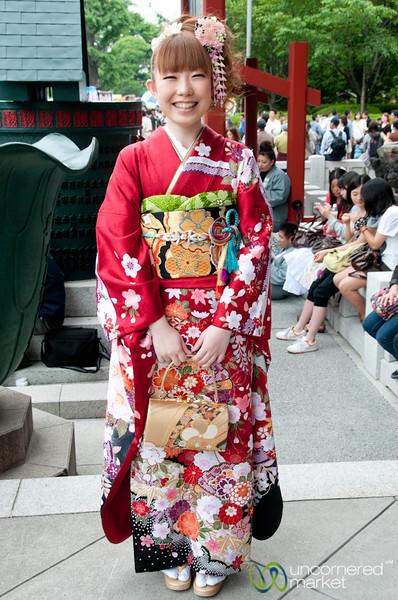 Japanese Woman in Kimono - Tokyo, Japan