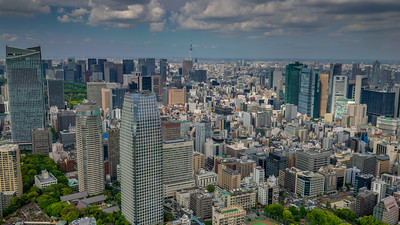 View from Tokyo Tower in Japan