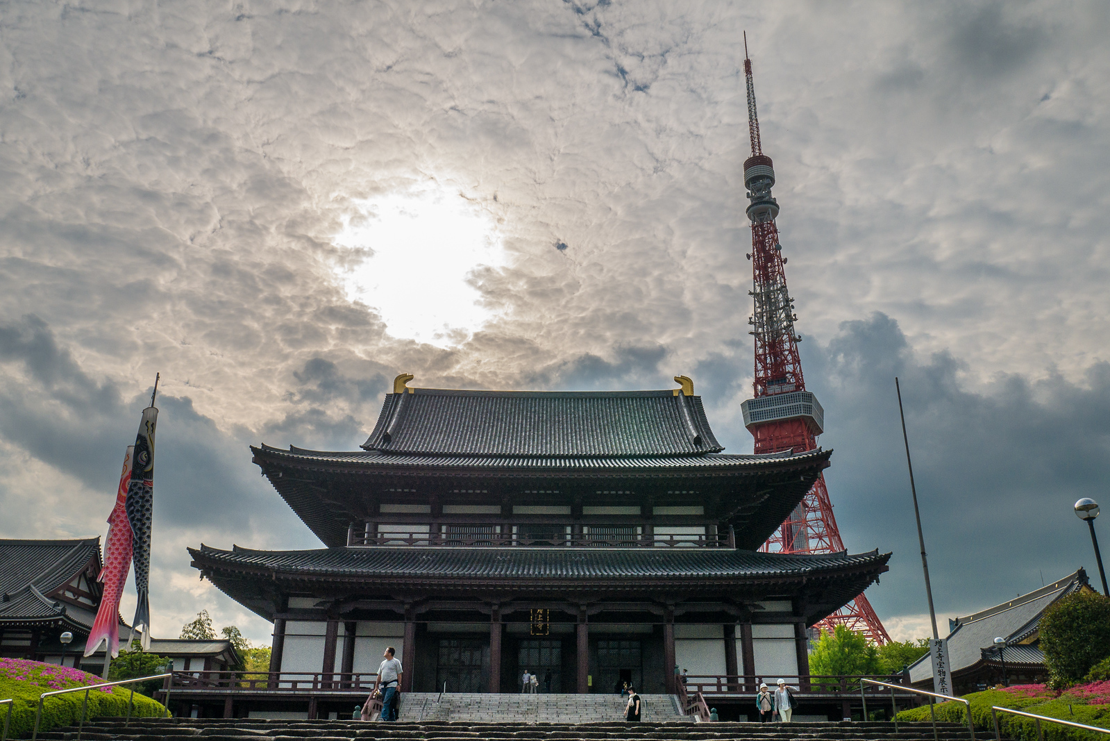 Zojo-ji Temple with Tokyo Temple in the background