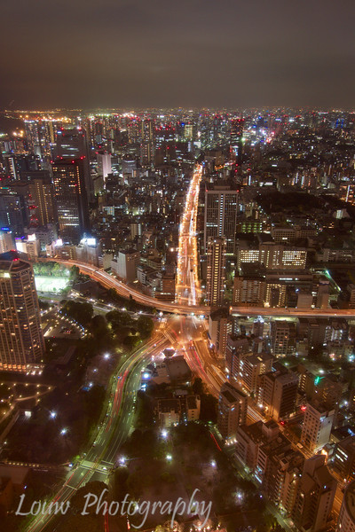 """Night view from <a target=""""NEWWIN"""" href=""""http://en.wikipedia.org/wiki/Tokyo_Tower"""">Tokyo Tower</a>, Toyko, Japan"""