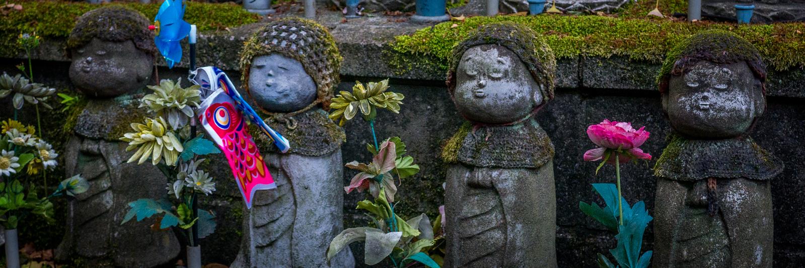 Jizo statues at Zojo-ji Temple