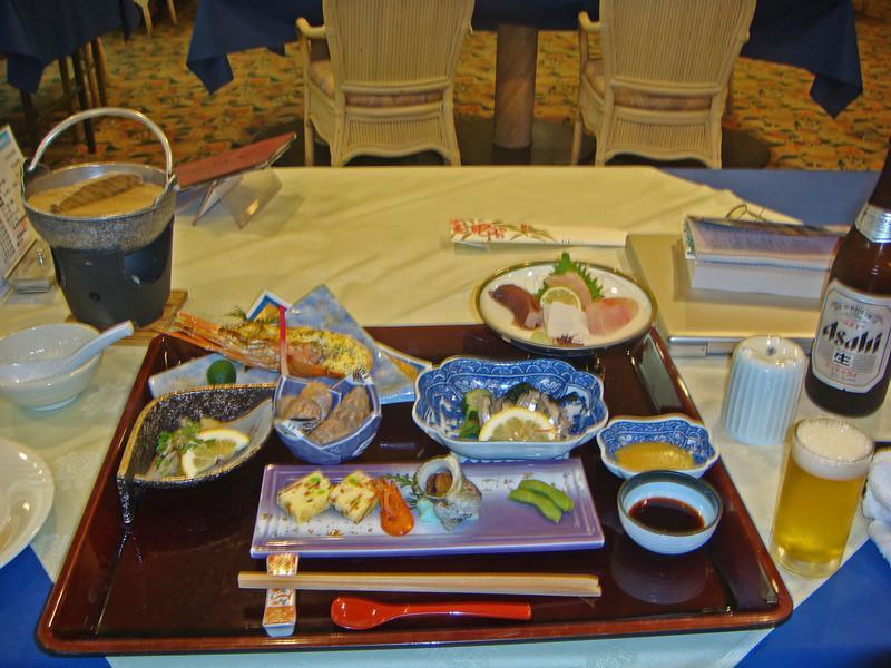 Dinner platter in Yakushima, Japan