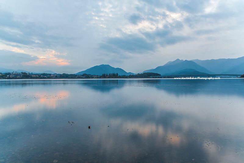 Lake Kawaguchi, Kawaguchi-ko, Yamanashi, Japan.